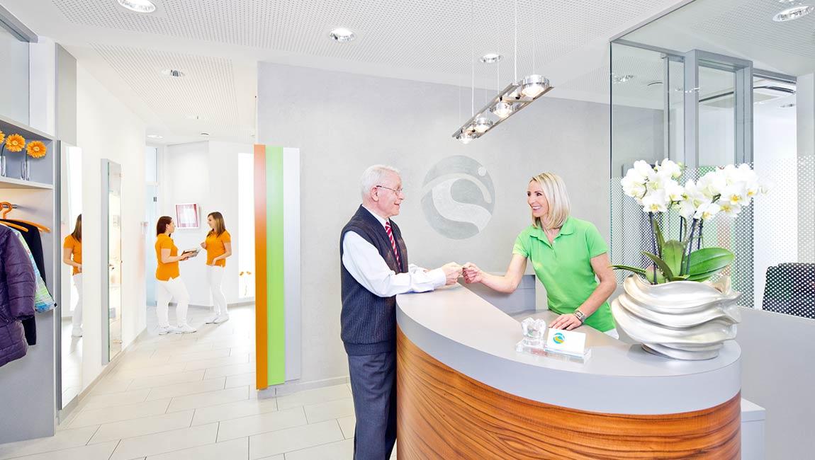 Empfang der Zahnarztpraxis Dr.Schanz in Gosheim